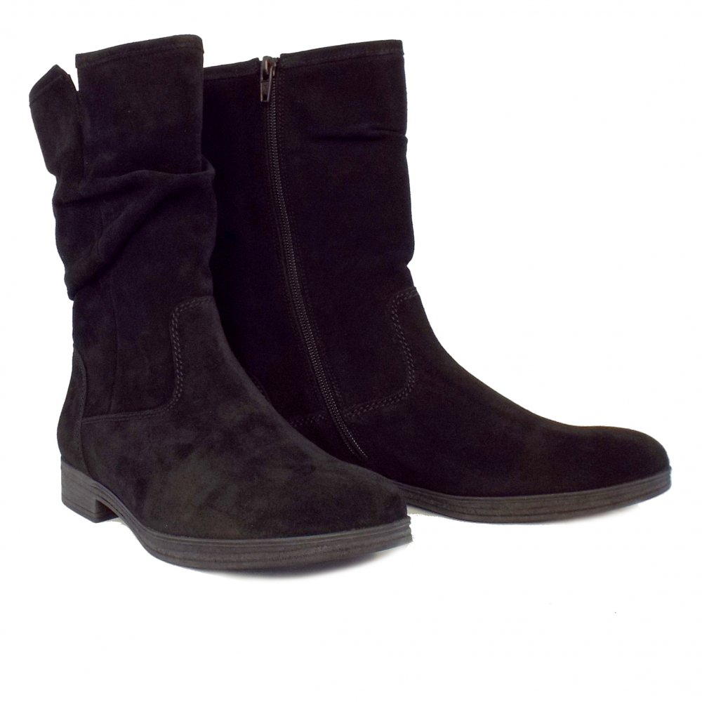 gabor dolce s mid calf boots black suede