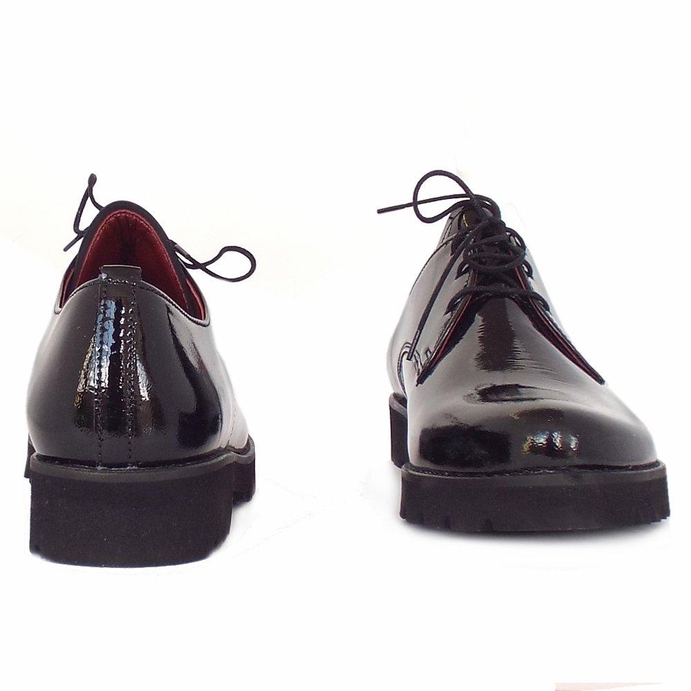 Wide Fit Mens Black Patent Shoes
