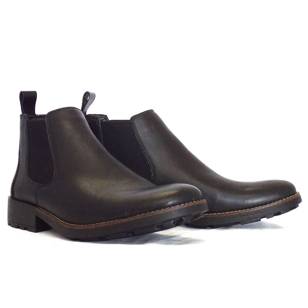 rieker eastwood 36082 00 mens pull on boot in black leather