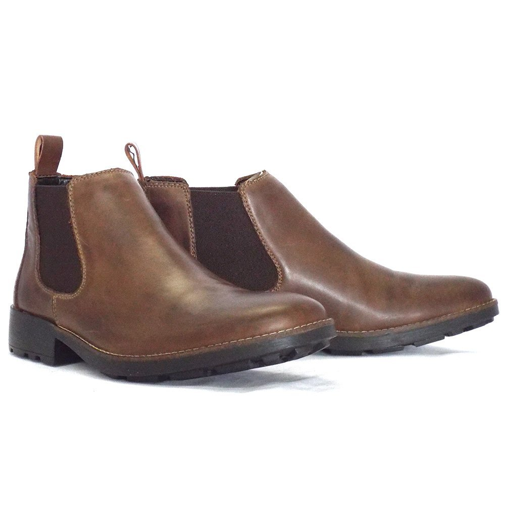 rieker eastwood 36082 25 mens pull on boot in brown leather