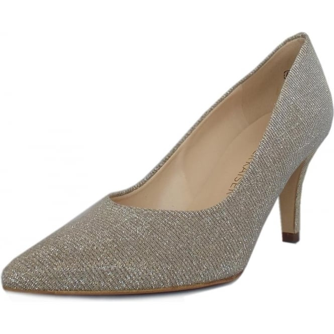 Peter Kaiser Ebby Stiletto Court Shoe in Sand Shimmer