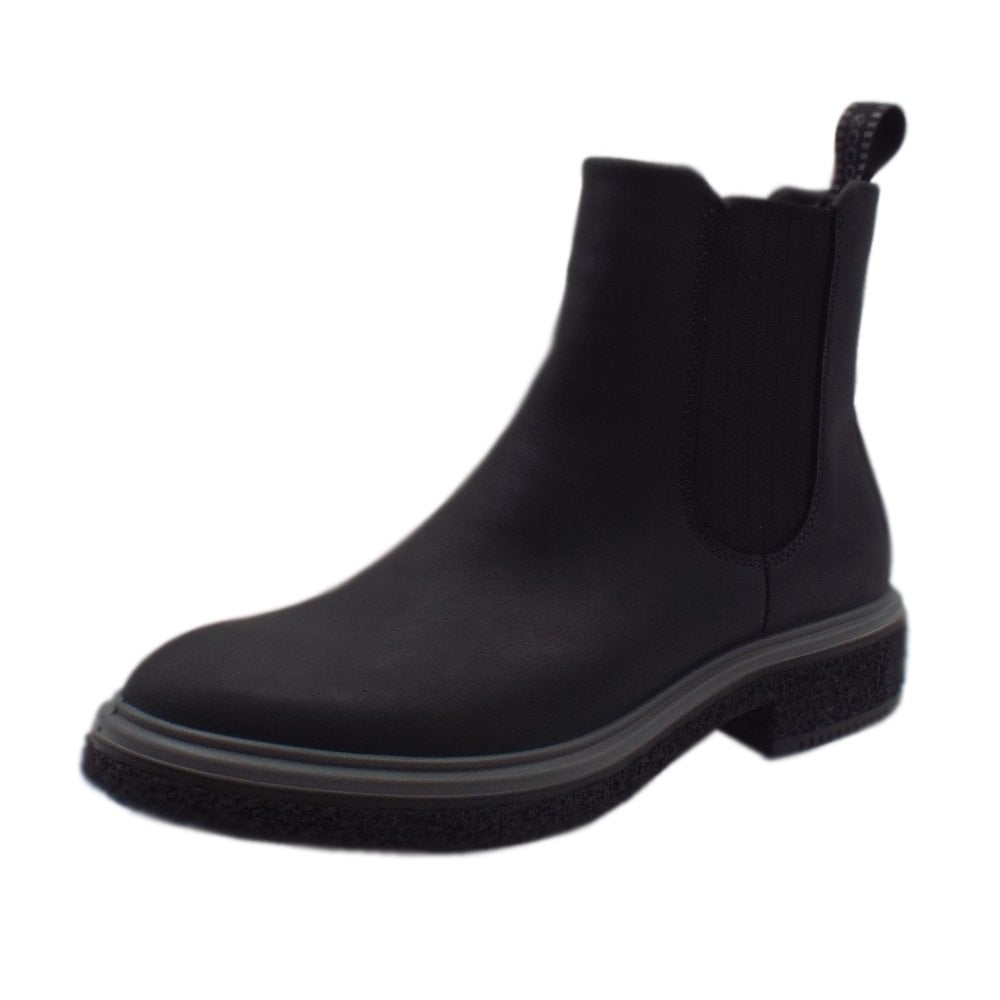 0dd42470e 200843 Crepetray Hybrid Boot - Ladies Casual Chelsea Boots in Black