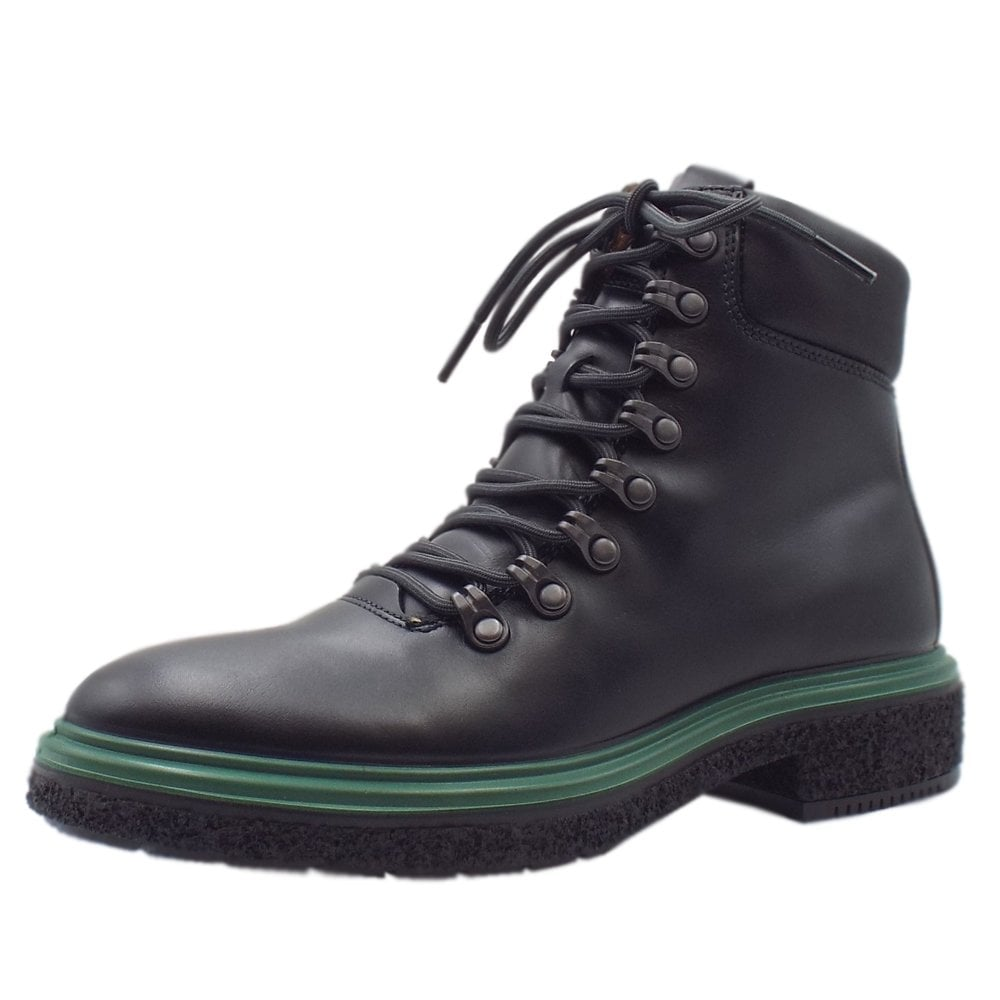 Boot In Up Black Ladies Lace Ecco 200913 Hybrid Casual Crepetray Boots HE2IYWeD9b