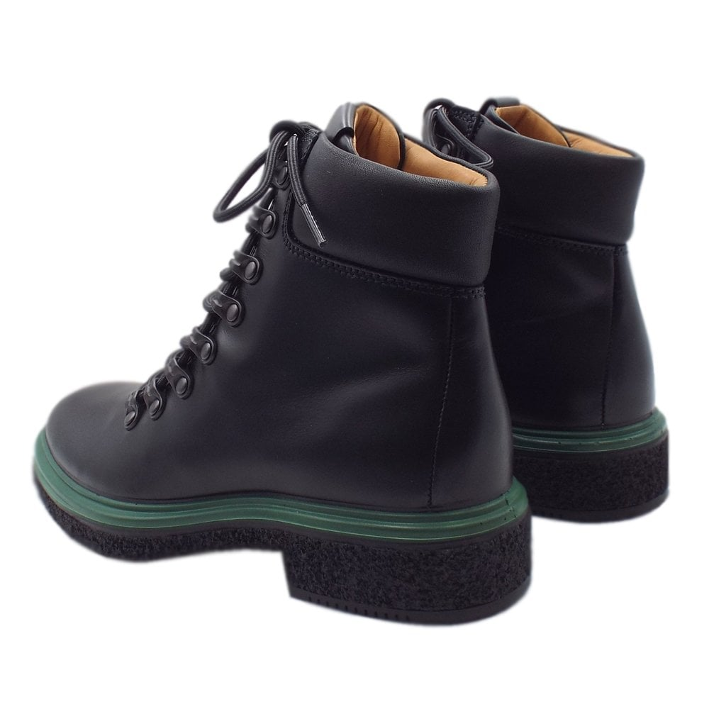 6bedb90576 ECCO 200913 Crepetray Hybrid Boot - Ladies Casual Lace-Up Boots in Black
