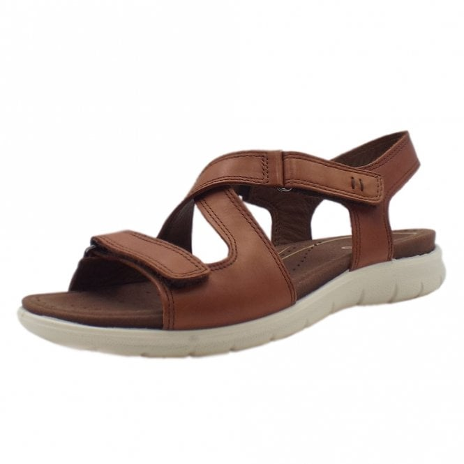 ECCO 214093 Babett Comfortable Fashion Sandals in Mahogany
