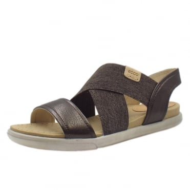 248223 Damara Comfortable Ladies Sandals in Licorice