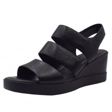 272613 Shape Wedge Plateau - Ladies Sandal in Black