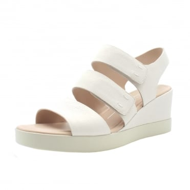 272613 Shape Wedge Plateau - Ladies Sandal in White
