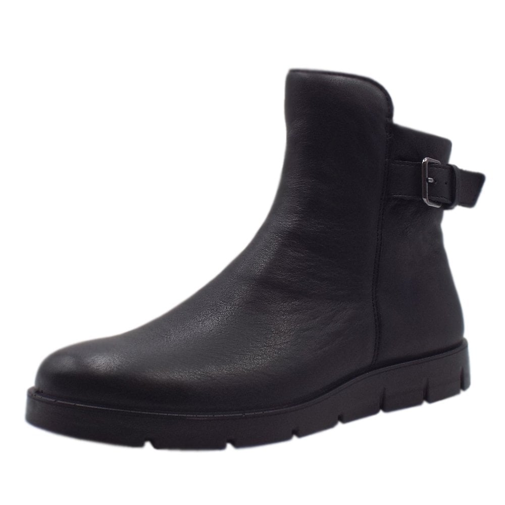 47412f0dbcc ECCO 282233 Bella Sporty Leather Ankle Boots in Black