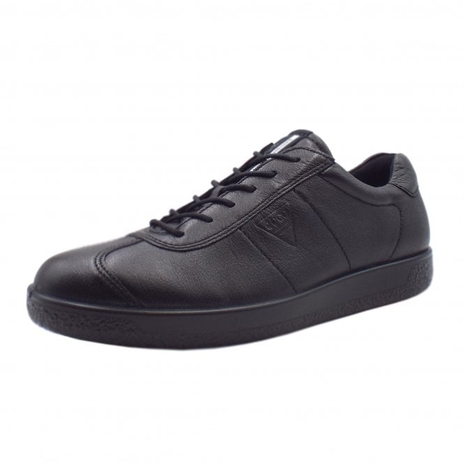 ECCO 400514 Soft 1 Men's Smart Lace-up Sneakers in Black