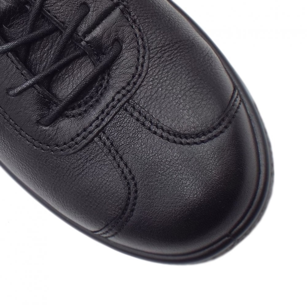 181f1b25 ECCO 400514 Soft 1 Men's Smart Lace-up Sneakers in Black