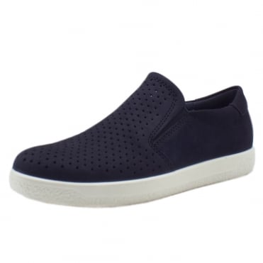 400553 Soft 1 Ladies Slip On Sneaker in Navy Nubuck