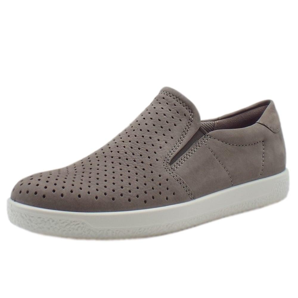 7193703e18d2 400553 Soft 1 Ladies Slip On Sneaker in Warm Grey
