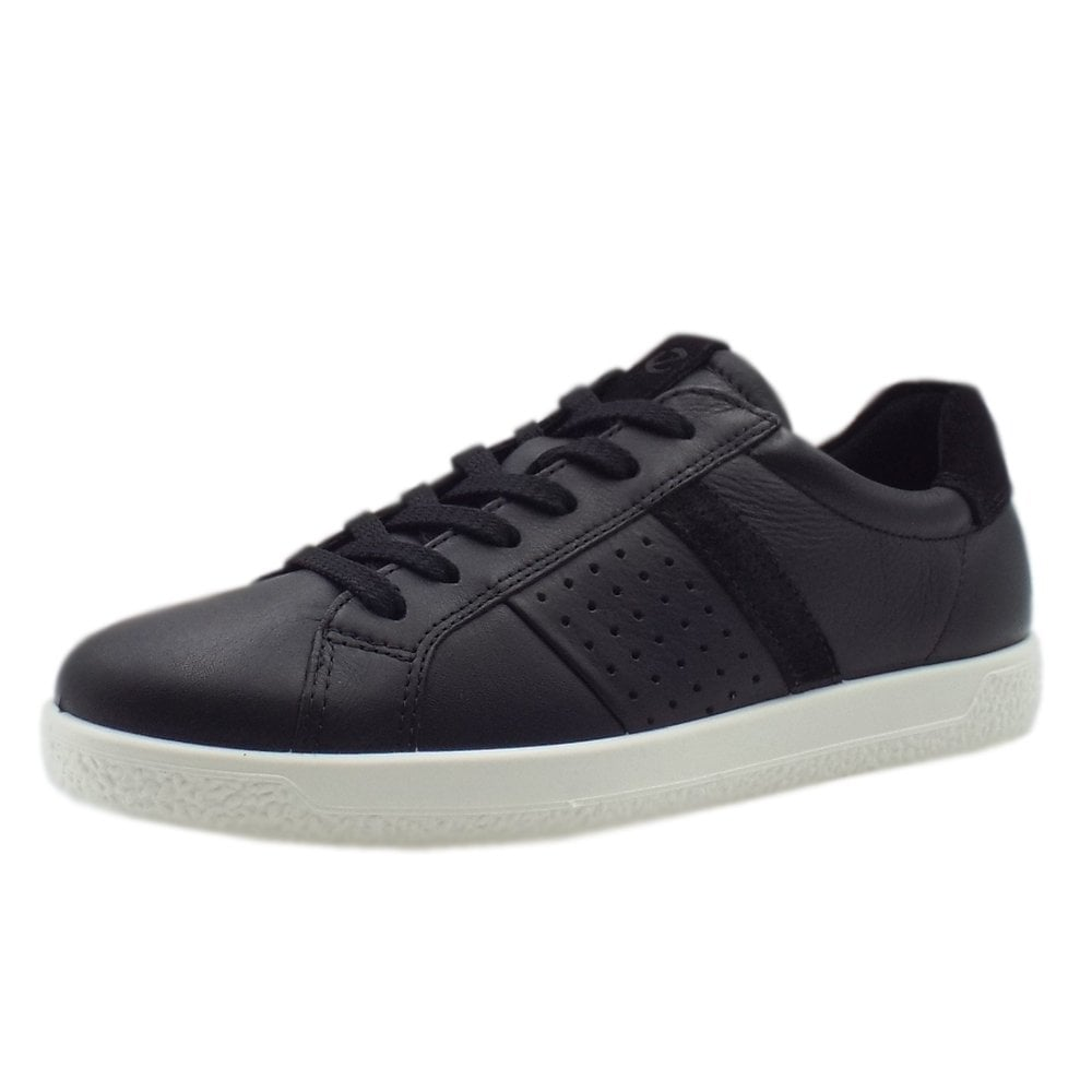 9083e41d0f 400703 Soft 1 Ladies Lace-Up Sneaker in Black