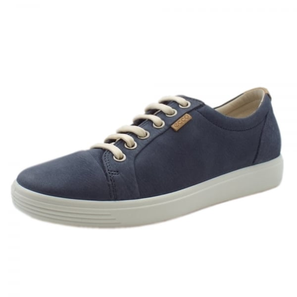 8f197b3d2 Ecco Soft 7 | Women's Leather Sneakers in Denim | Mozimo