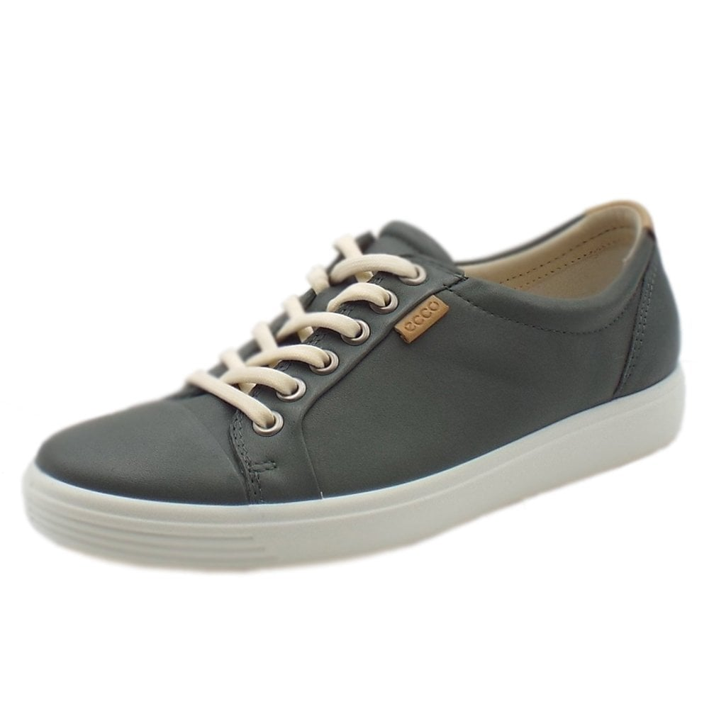 8ffec4b9d Ecco Soft 7 | Women's Leather Sneakers in Moon | Mozimo