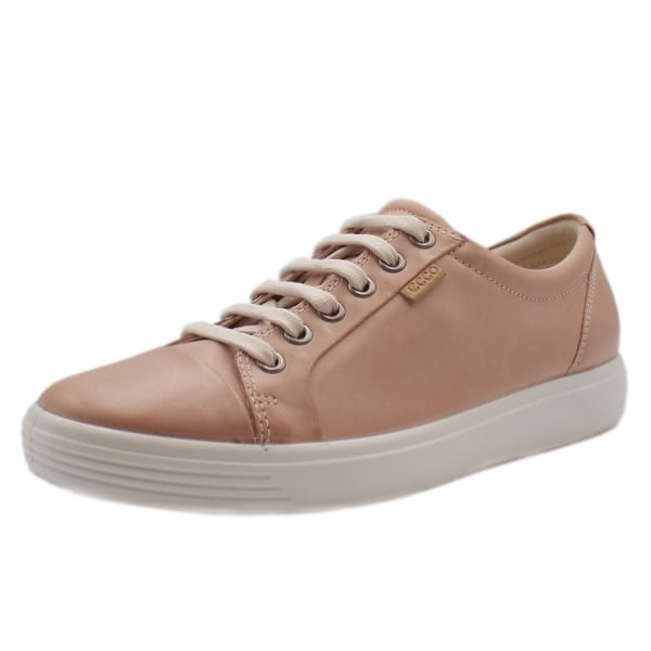 cab1c1c77 Ecco Soft 7 | Women's Leather Sneakers in Rose | Mozimo