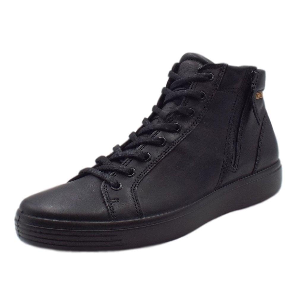6f28a2ec124 ECCO 430134 Soft 7 Men's Sneaker Boot in Black