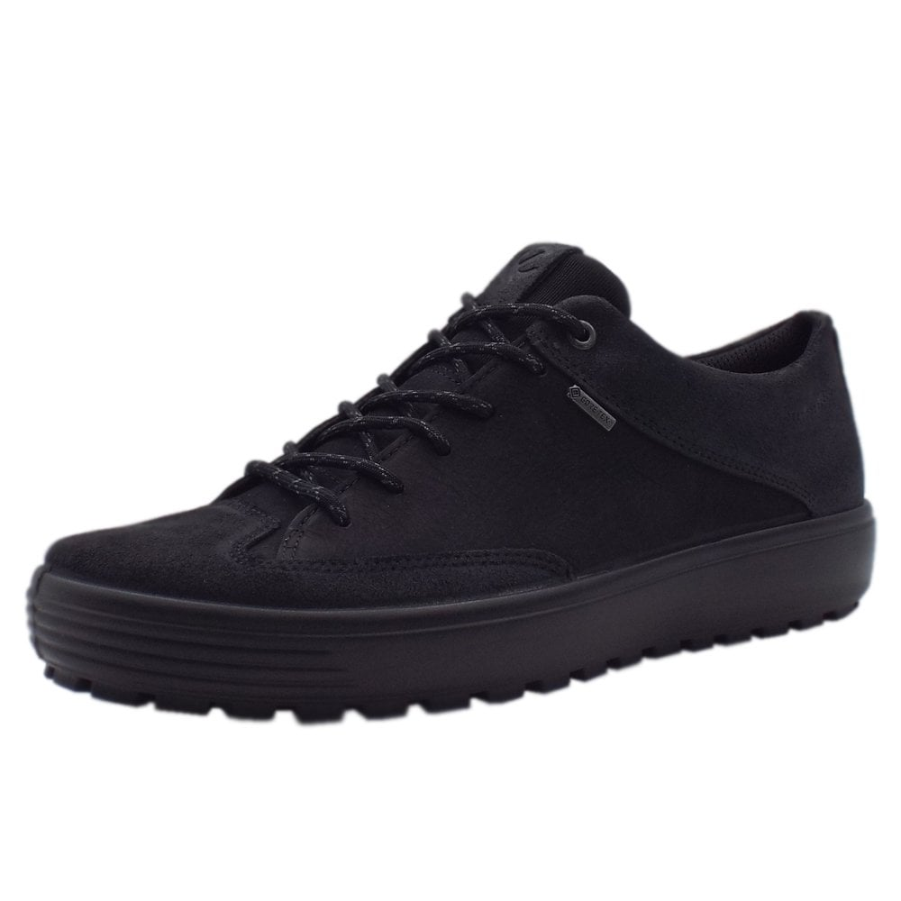75f9492f ECCO 450104 Soft 7 Tred Men's Gore-Tex Lace-up Shoes in Black