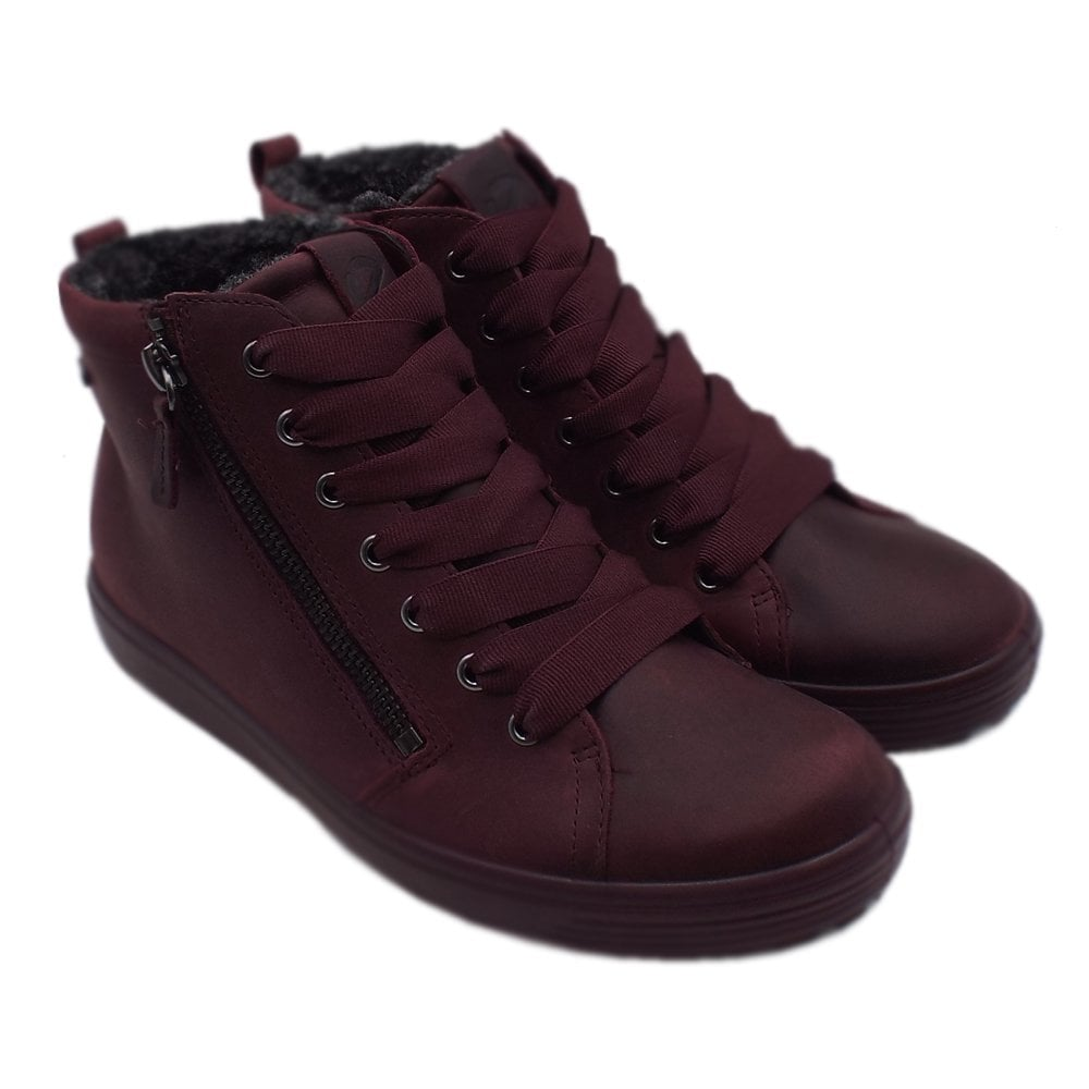 6abb899eae ECCO 450163 Soft 7 Tred Gore-Tex Sporty Lace-up Winter Boots in Wine