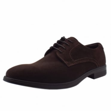 621634 Melbourne Coffee - Men's Lace-up Suede Formal Shoes in Coffee