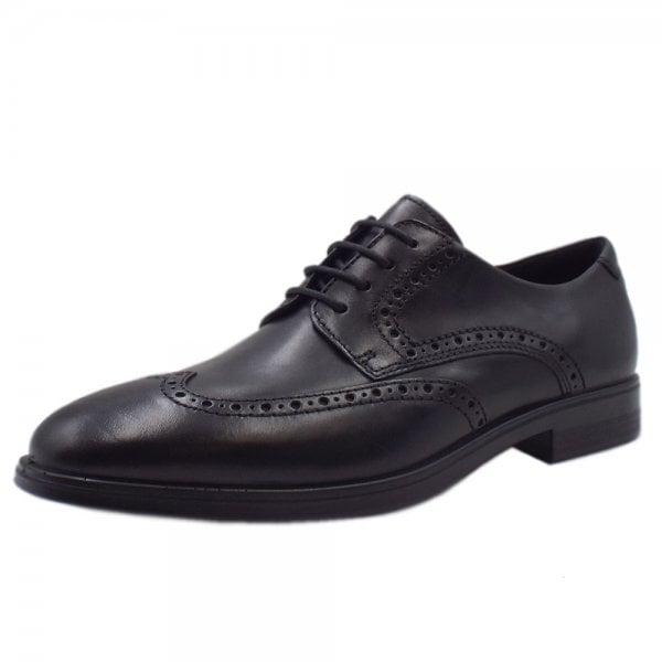 Rieker Mens Derby Black Shoes