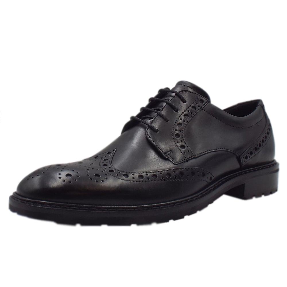 e84abbf446 ECCO 640314 Vitrus I Oxford - Men's Lace-up Formal Brogue Shoes in Black