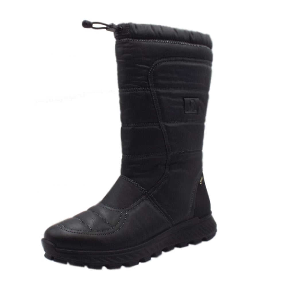 78755671 ECCO 832333 Exostrike Gore-Tex Long Boot - Ladies Casual Boots in Black