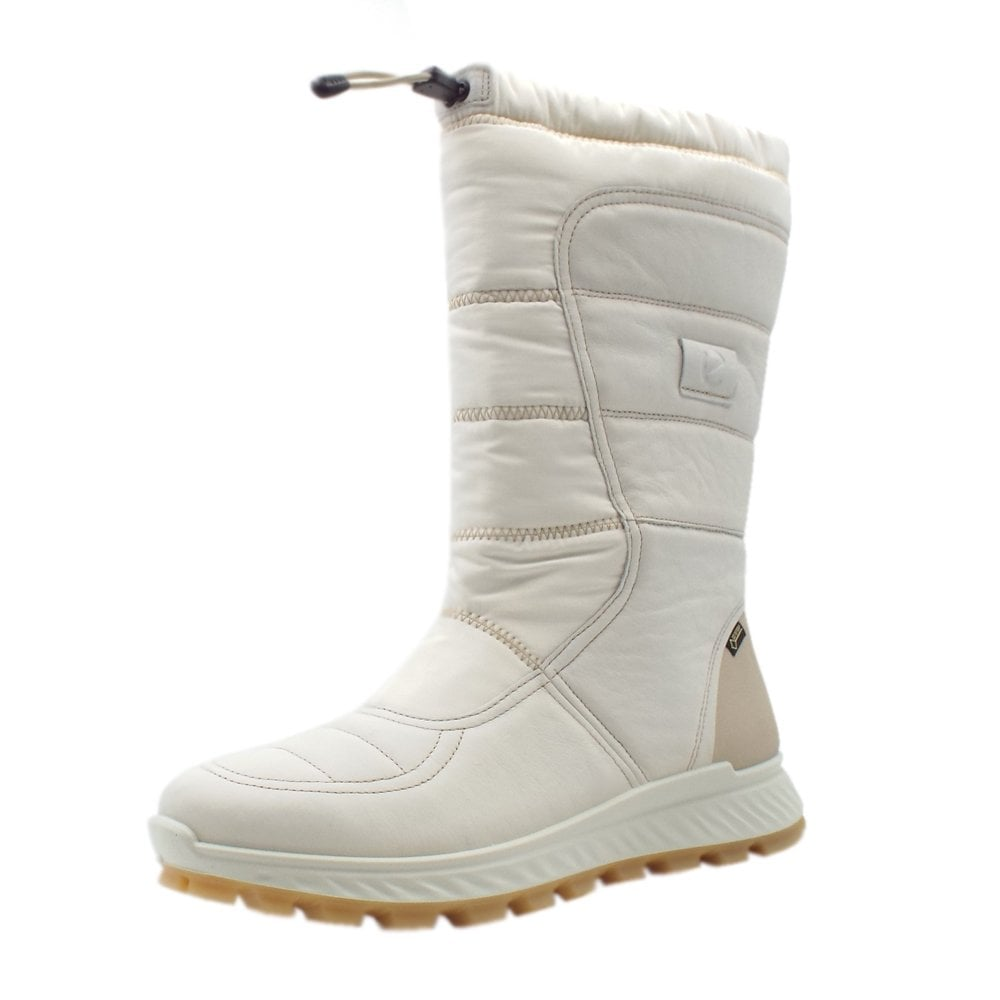 652a7f2a ECCO 832333 Exostrike Gore-Tex Long Boot - Ladies Casual Boots in White