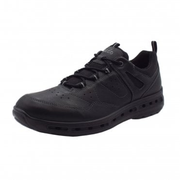 833204 Cool Walk Men's Lace-up Waterproof Leather Trainers in Black