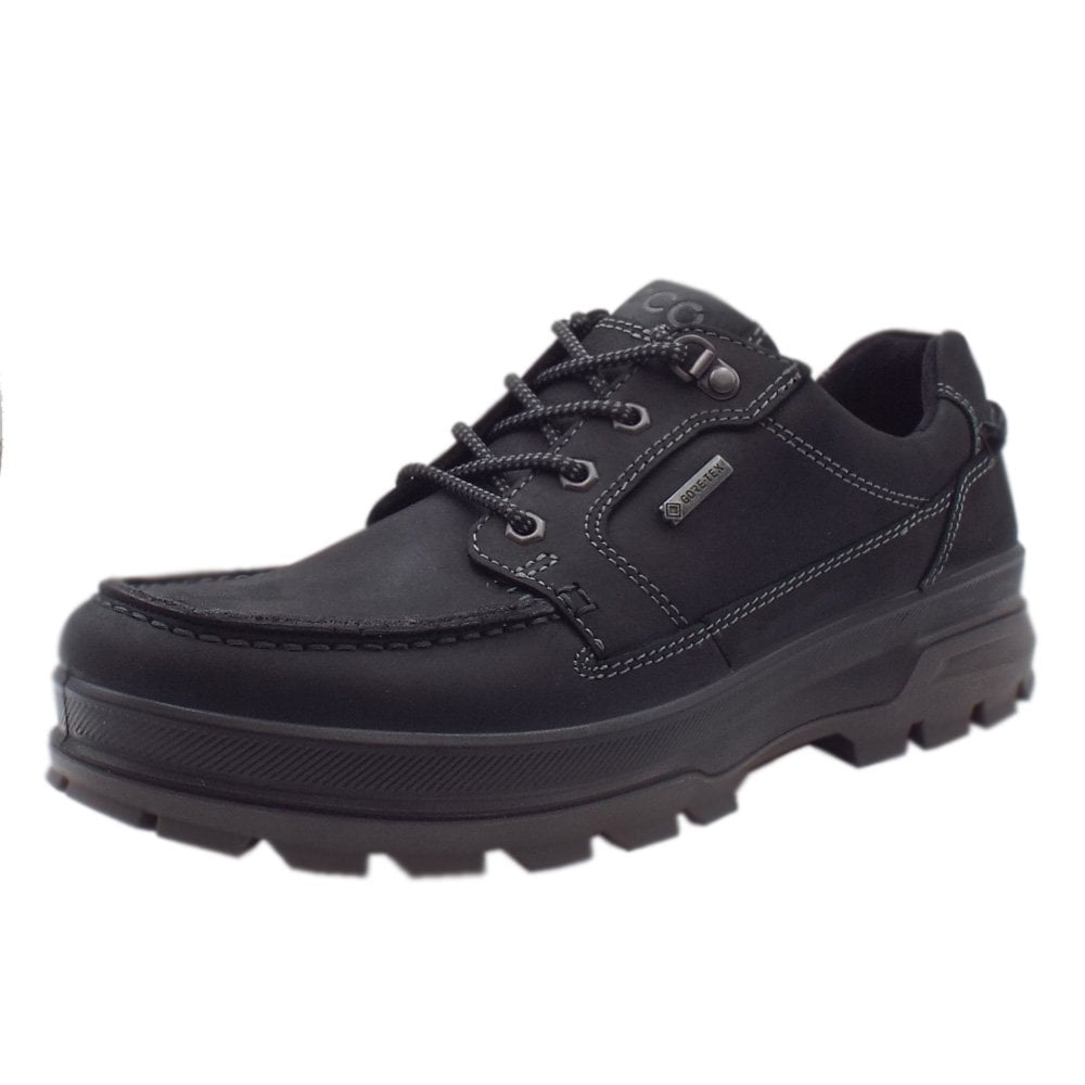 5614b782 ECCO 838004 Rugged Track Men's Lace-up Gore-Tex Shoes in Black