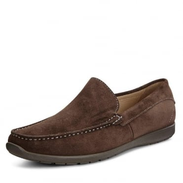 Dalas Moccasin Coffee - 570114 - Men's Slip On Casusal Shoes in Coffee