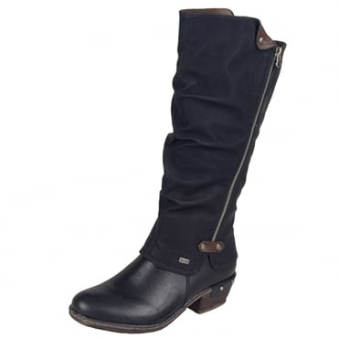 Eclipse RiekerTEX Fashion Long Boots in Black