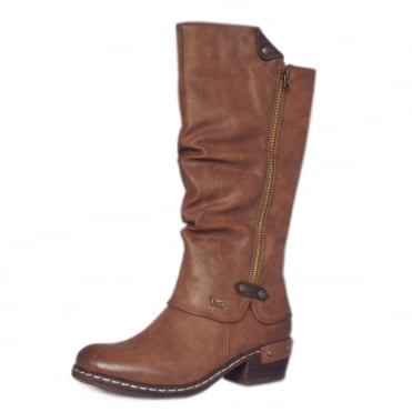 Eclipse RiekerTEX Fashion Long Boots in Tan