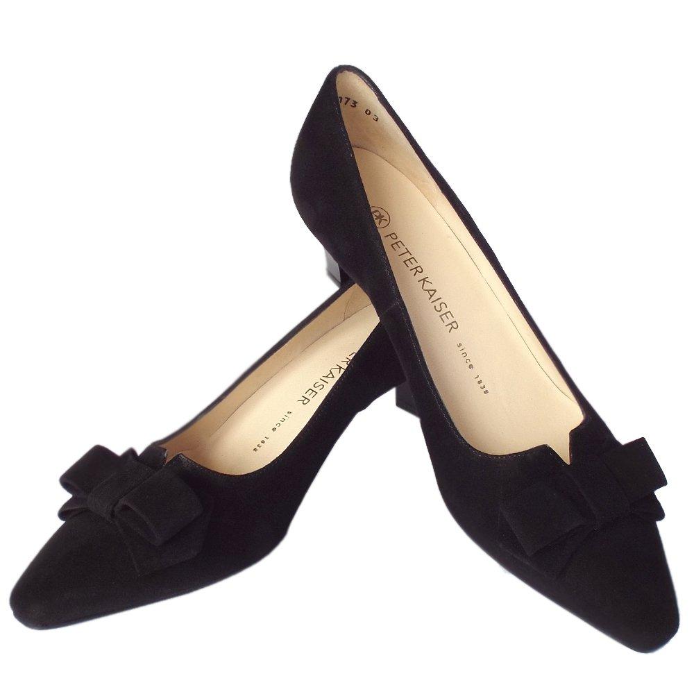 kaiser egina s kitten heel court shoes in