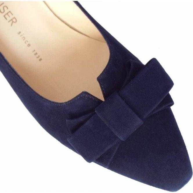 2ddad780212 Egina Women  039 s Kitten Heel Court Shoes in Navy Suede