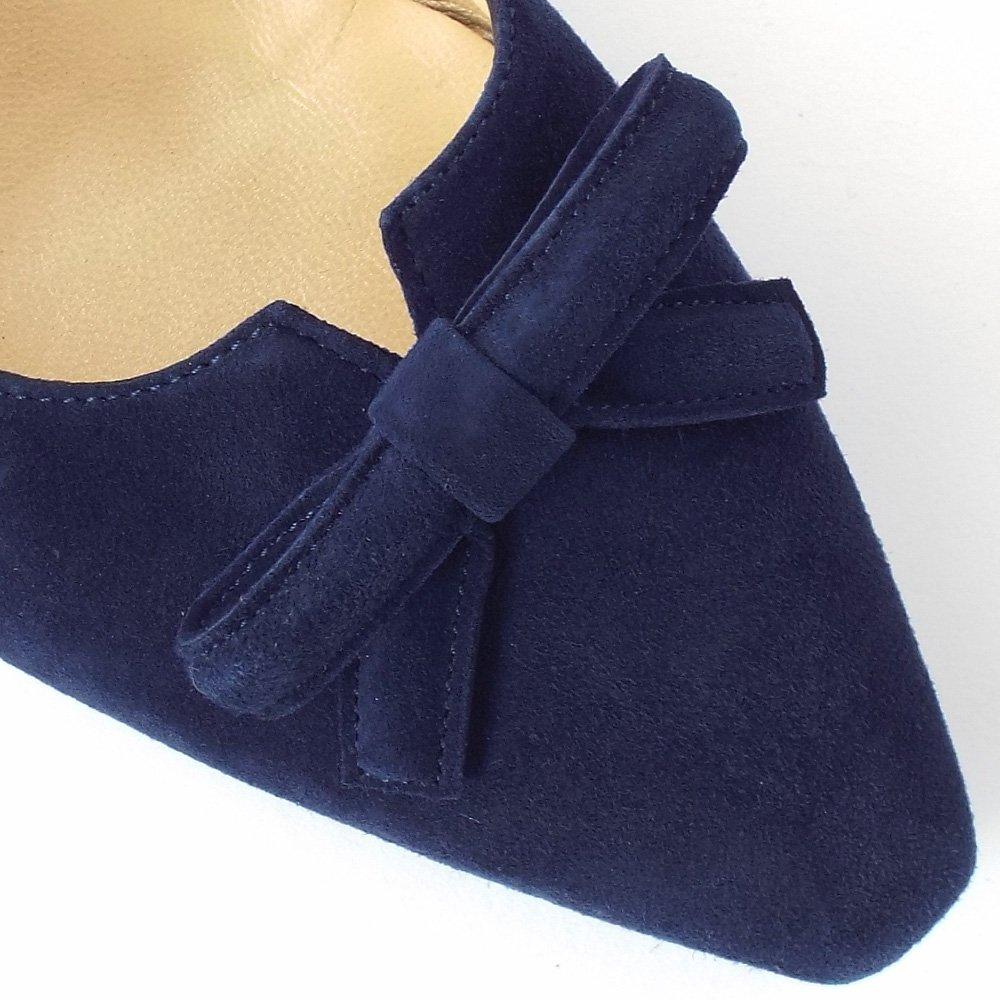 Home : Womens : Elsie Women's Kitten Heel Court Shoes In Navy