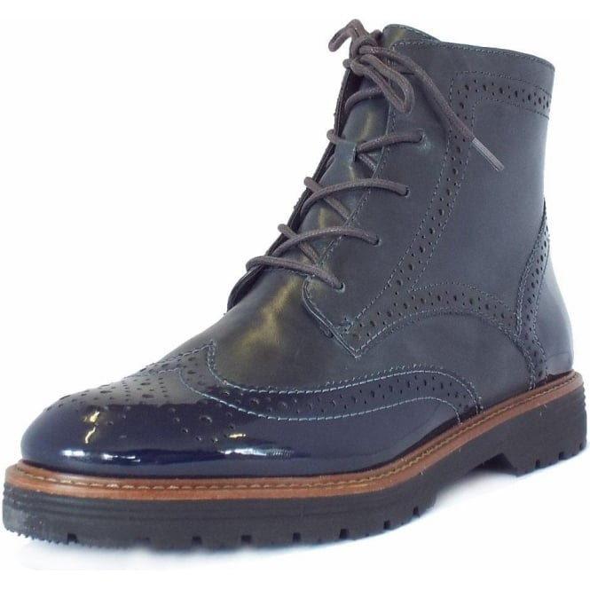 87023e2c6569 Ely Women  039 s Fashion Wider Fit Brogue Boots ...