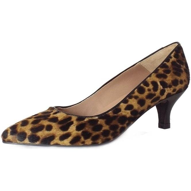 Kitten Heel Leopard Print Pony Skin