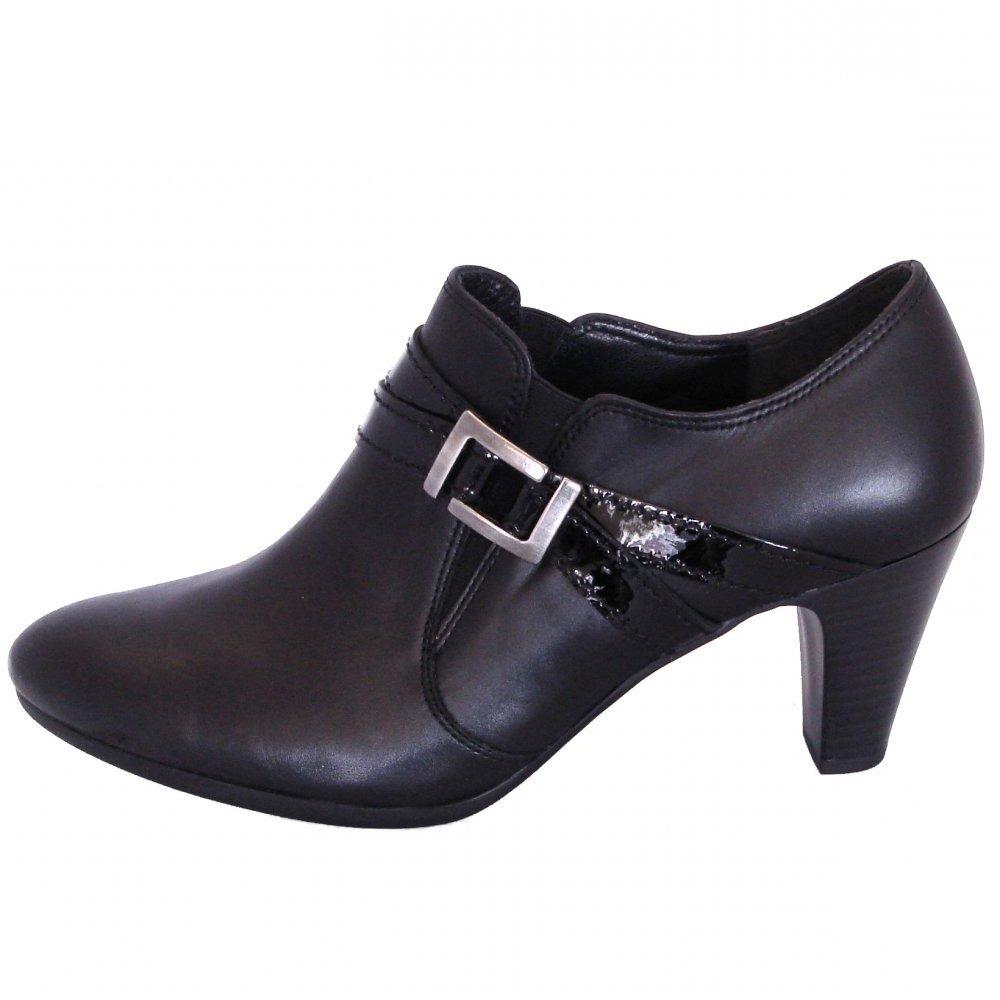 gabor shoes emanuel mid heel shoe in black mozimo