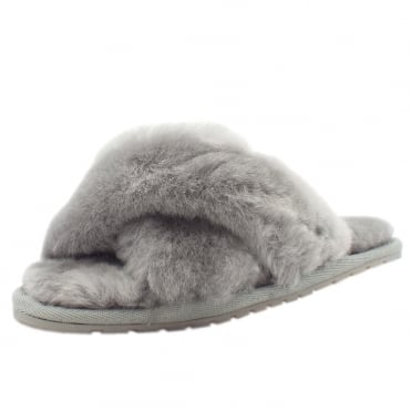 Mayberry Luxury Australian Ladies Sheepskin Slippers in Light Grey
