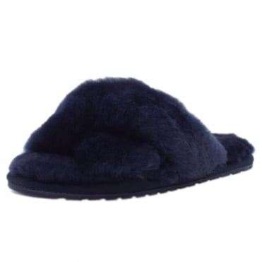Mayberry Luxury Australian Ladies Sheepskin Slippers in Midnight