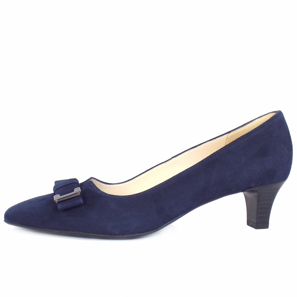 Navy Blue Shoes Women Low Heel