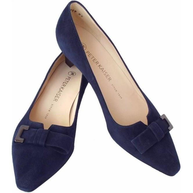 5efe5b47d9f Esti Women  039 s Smart Low Heel Court Shoes in Navy Suede