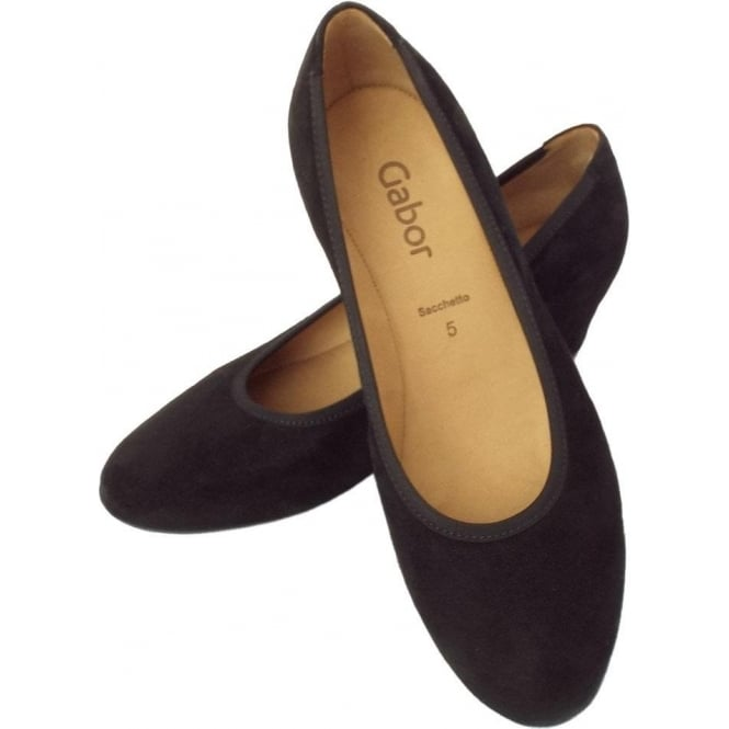 217e2ffecfe7 Fantasy Women  039 s Smart-Casual Mid Wedge Court Shoes in Black Suede