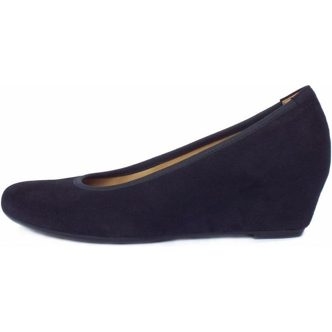 6093330da60c Gabor Gabor Fantasy Women s Smart-Casual Mid Wedge Court Shoes in Navy Suede