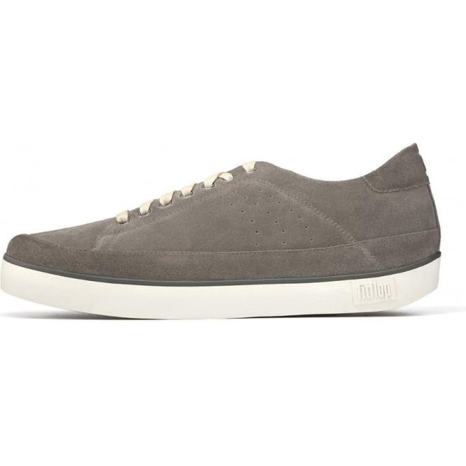 536df99e2591e4 Fitflop - Supertone Mens Leather in Grey Suede Sneaker from Mozimo