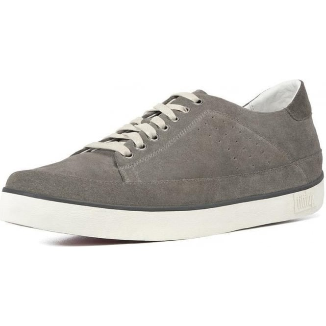 7884b5e8093d Fitflop - Supertone Mens Leather in Grey Suede Sneaker from Mozimo