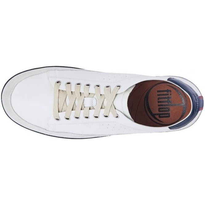 ff320bc0aa4 Fitflop - Supertone Mens Leather in off White Leather Sneaker Mozimo