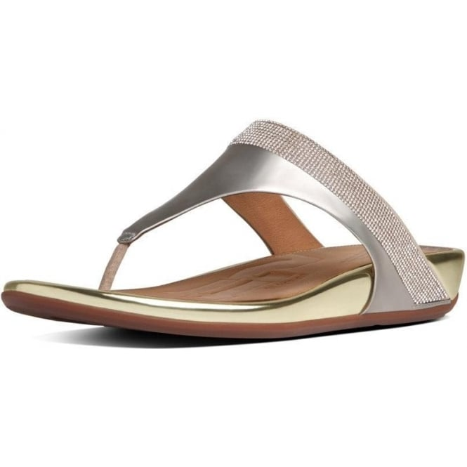 FitFlop FF2™ by FitFlop™ Banda™ Micro-Crystal Toe-Post Gold Sandals